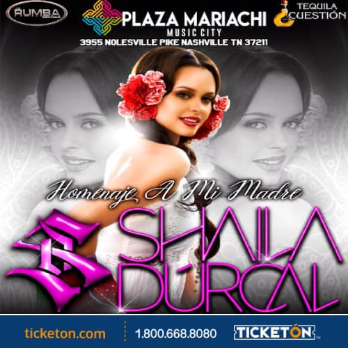 Shaila Durcal Performs live at Plaza Mariachi