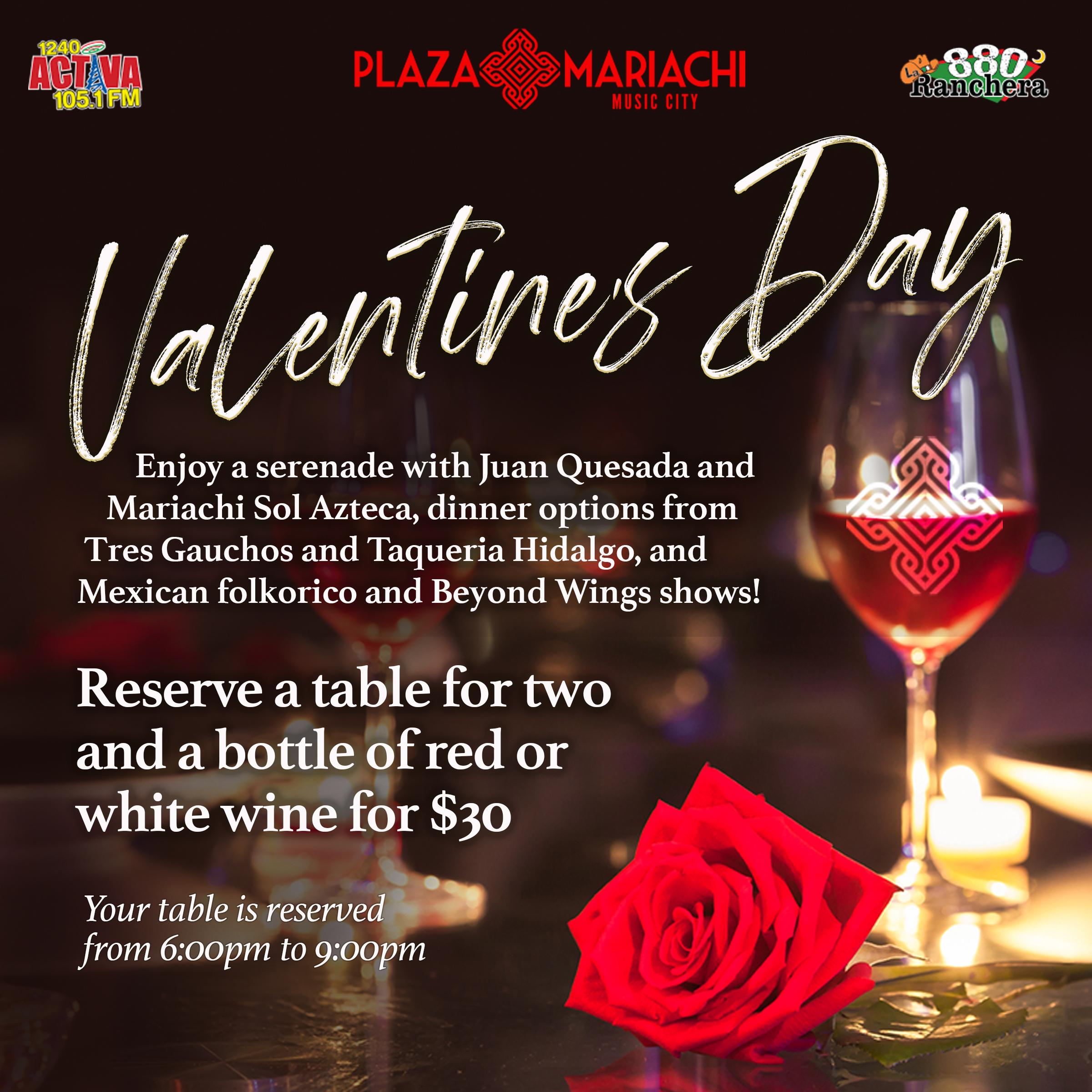 Valentine's Day at Plaza Mariachi